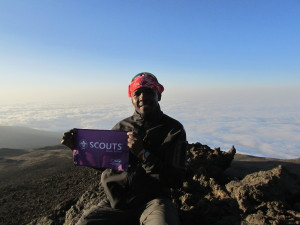 Chief Scout Sibusiso Vilane sitting on top of the african continent 3 july 2014
