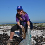 Scout cleaning up robben island shoreline