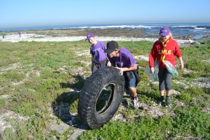 Scouts find waste tyre