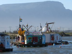 Web 2nd Bergvliet Raft on the water against backdrop of Table Mountain
