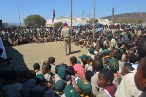 Children and Scouters at KZN Rally - photo by Steve Camph