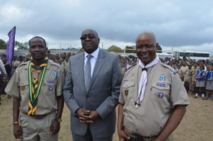 KZN Rally - Chief Scout Sibusiso Vilane, Minister Nene, event organiser Dr Goodenough Dlamini credit photo Steve Camp