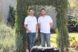Luke and Mathew Huchinson - Joy's sons
