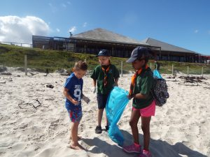 SCOUTS SA beach cleanup