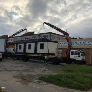 The first unit lifted form the truck