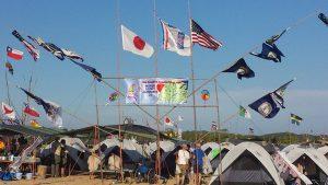 23rd World Scout Jamboree Japan - International Flags