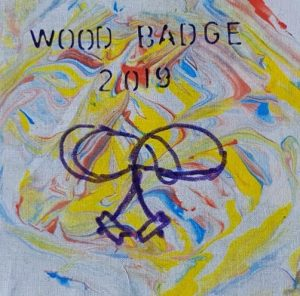 wood badge cover joy